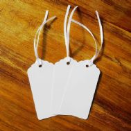 Pack of 100 White Tags, Gift, Wedding, Wish Tree Tags with No Ribbon Or String